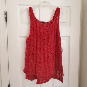 Tops - Chenille Slouchy Edgy Tank